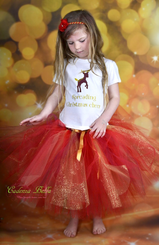 Christmas Tutu Outfits.New Zealand Made Christmas Top And Tutu Outfits Cadenza